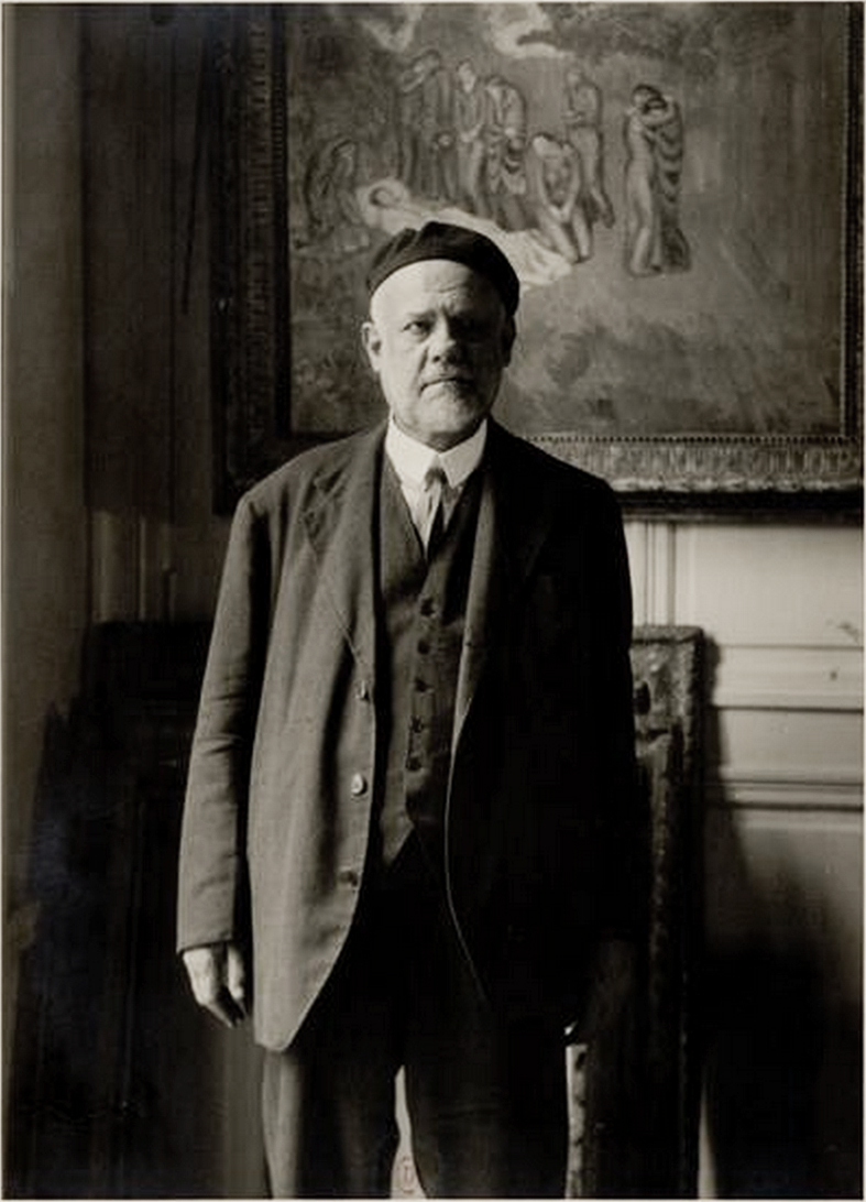 Ambroise_Vollard,_standing_in_front_of_Picasso's_Evocación._El_entierro_de_Casagemas