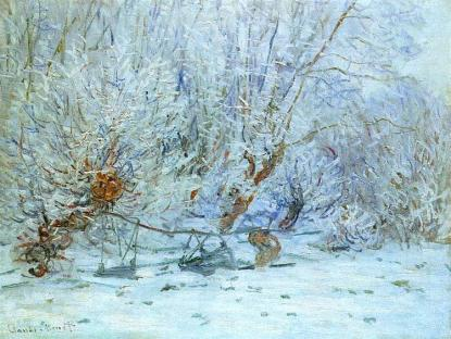 Claude Monet, 1840-1926 The Entrance to Giverny under the Snow, 1885